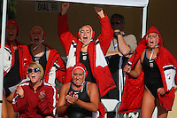 10 May 2008: Stanford Cardinal (Top row L-R) Kim Hall, Jenna Gunderson, Chelsea Smith-Carmichael, Kira Hillman, (Bottom row L-R) Megan Nesland, and Alex Koran during Stanford's 10-6 loss against the USC Trojans in the National Collegiate Women's Water Polo Tournament semifinal game at Avery Aquatic Center in Stanford, CA.