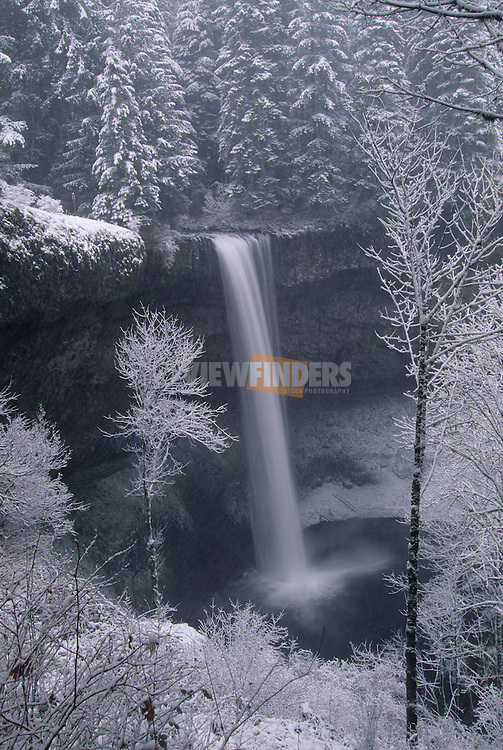 South Falls in Winter, Silver Falls State Park