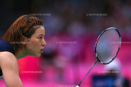 Miyuki Maeda (JPN), .JULY 30, 2012 - Badminton : .Women's doubles group stage Group D badminton match .at Wembley Arena .during the London 2012 Olympic Games in London, UK. .(Photo by Koji Aoki/AFLO SPORT)