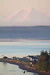 Puget Sound, Port Townsend, Mount Rainier, Fort Worden, Washington State Parks, Point Hudson, sunrise, Olympic Peninsula, Washington State, Pacific Northwest, USA,