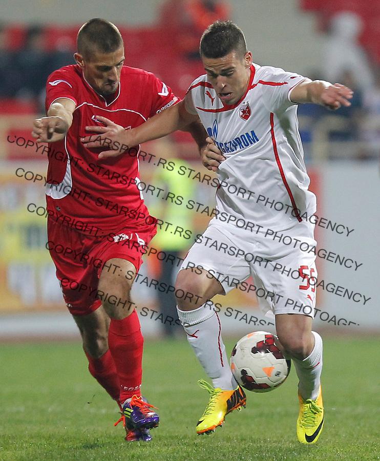 Fudbal Super liga season 2013-2014<br /> Radnicki Nis v Crvena Zvezda<br /> Aleksandar Kovacevic (R)<br /> Nis, 26.10.2013.<br /> foto: Srdjan Stevanovic/Starsportphoto &copy;