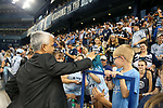 KANSAS CITY, KS - SEPTEMBER 20: U.S. Soccer Federation president Sunil Gulati interacts with a young Kansas City fan before the game. Sporting Kansas City hosted the New York Red Bulls on September 20, 2017 at Children's Mercy Park in Kansas City, KS in the 2017 Lamar Hunt U.S. Open Cup Final. Sporting Kansas City won the match 2-1.