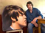 Robert Landau wit hand-painted Paul McCartney head form Abbey Road billboard. circa 2012