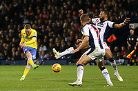Leeds United's Adam Forshaw aims a shot towards goal<br /> <br /> Photographer David Shipman/CameraSport<br /> <br /> The EFL Sky Bet Championship - West Bromwich Albion v Leeds United - Saturday 10th November 2018 - The Hawthorns - West Bromwich<br /> <br /> World Copyright © 2018 CameraSport. All rights reserved. 43 Linden Ave. Countesthorpe. Leicester. England. LE8 5PG - Tel: +44 (0) 116 277 4147 - admin@camerasport.com - www.camerasport.com