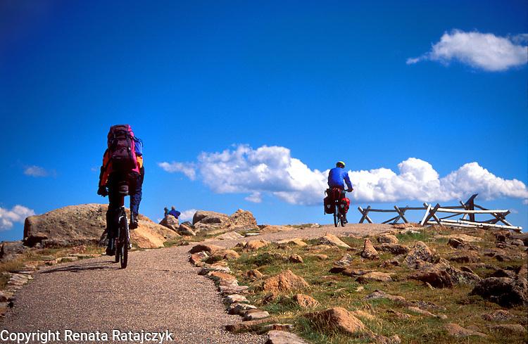 Biking in Rocky Mountains, Colorado, USA