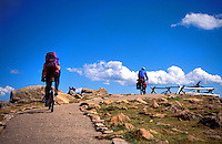 Biking in Rocky Mountains, Colorado, USA