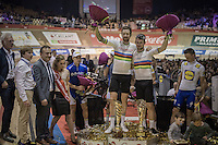 Winners of the 2016 Gent 6: World Madison Champions Mark Cavendish (GBR/Dimension Data) & Sir Bradley Wiggins (GBR/Wiggins)