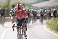 Simon Clarke (AUS/EF Education First) trying to get away from the front<br /> <br /> 14th Strade Bianche 2020<br /> Siena > Siena: 184km (ITALY)<br /> <br /> delayed 2020 (summer!) edition because of the Covid19 pandemic > 1st post-Covid19 World Tour race after all races worldwide were cancelled in march 2020 by the UCI
