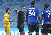 Preston North End's Ben Pearson is sent off by ref Davis Coote<br /> <br /> Photographer Mick Walker/CameraSport<br /> <br /> The EFL Sky Bet Championship - Sheffield Wednesday v Preston North End - Saturday 22nd December 2018 - Hillsborough - Sheffield<br /> <br /> World Copyright &copy; 2018 CameraSport. All rights reserved. 43 Linden Ave. Countesthorpe. Leicester. England. LE8 5PG - Tel: +44 (0) 116 277 4147 - admin@camerasport.com - www.camerasport.com