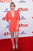 Violett Beane at the Los Angeles premiere for &quot;47 Meters Down&quot; at the Regency Village Theatre, Westwood. <br /> Los Angeles, USA 12 June  2017<br /> Picture: Paul Smith/Featureflash/SilverHub 0208 004 5359 sales@silverhubmedia.com