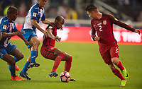 San Jose, Ca - Friday March 24, 2017: Darlington Nagbe Jorge Villafaña during the USA Men's National Team defeat of Honduras 6-0 during their 2018 FIFA World Cup Qualifying Hexagonal match at Avaya Stadium.