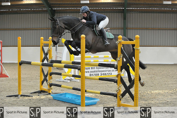 Class 5. Ariat Star Championship Qualifier. Area 40 Seniors Christmas showjumping. Brook Farm Training Centre. Essex. 11/12/2016. MANDATORY Credit Melody Fisher/Sportinpictures - NO UNAUTHORISED USE - 07837 394578