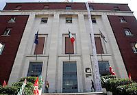 Il presidio davanti alla sede del Cnr a Roma, 7 giugno 2010, contro i tagli agli enti di ricerca..UPDATE IMAGES PRESS/Riccardo De Luca