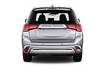 Straight rear view of 2019 Mitsubishi Outlander-PHEV Intense-4wd 5 Door SUV Rear View  stock images