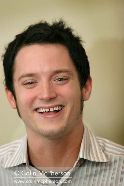 Cast and director of Green Street at a photocall at the Balmoral hotel to promote the film ahead of its UK premiere tonight. Pictured is star Elijah Wood. The 59th Edinburgh International Festival ran from 17-28 August..