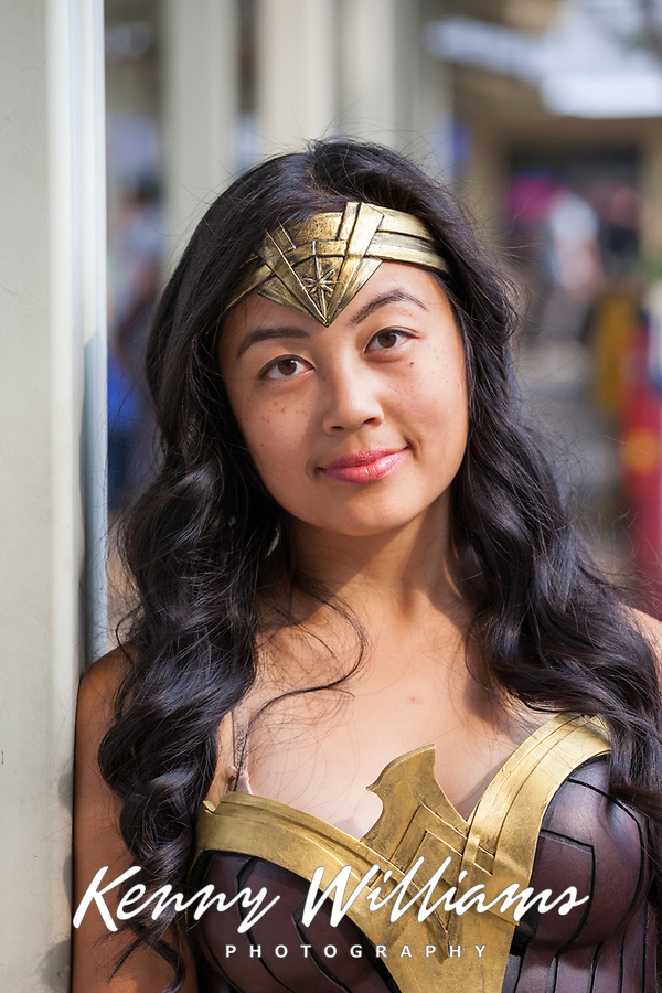 Amazonian Warrior Wonder Woman Cosplay, Renton City Comicon 2017, WA, USA.