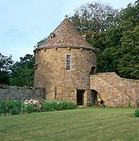 The restored 'colombier' in the garden of St Ouen's Manor would have housed 1,000 pairs of doves and pigeons