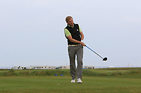 Stephen Walsh (Portmarnock) on the 1st tee during Round 1of the Flogas Irish Amateur Open Championship 2019 at the Co.Sligo Golf Club, Rosses Point, Sligo, Ireland. 16/05/19<br /> <br /> Picture: Thos Caffrey / Golffile<br /> <br /> All photos usage must carry mandatory copyright credit (© Golffile | Thos Caffrey)