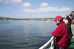 Passengers on the ferry boat trip to the Aran Islands, County Clare, Ireland