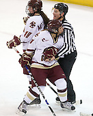 Ashley Motherwell (BC - 18), Allison Szlosek (BC - 8) - The University of Vermont Catamounts defeated the Boston College Eagles 5-1 on Saturday, November 7, 2009, at Conte Forum in Chestnut Hill, Massachusetts.