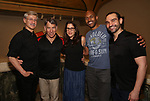 """David Garrison, Stephen Schwartz, Anne Kaufman, Alvin Hough Jr. and Javier Munoz attends the Opening Night performance afterparty for ENCORES! Off-Center production of """"Working - A Musical""""  at New York City Center on June 26, 2019 in New York City."""