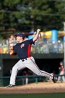 Potomac Nationals pitcher Nick Raquet (22) on the mound during a game against the Myrtle Beach Pelicans at Ticketreturn.com Field at Pelicans Ballpark on July 1, 2018 in Myrtle Beach, South Carolina. Myrtle Beach defeated Potomac 6-1. (Robert Gurganus/Four Seam Images)
