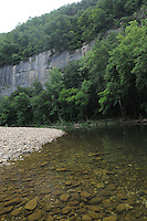NWA Democrat-Gazette/FLIP PUTTHOFF <br /> The upper Buffalo River may be too low to float during much of summer, but it is inviting for swimming. Several good places to swim are located on the river in the Steel Creek campground.
