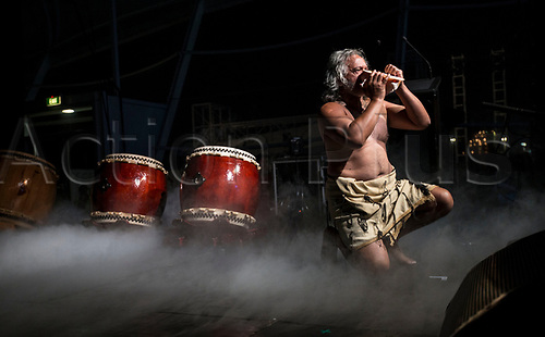 April 30th 2017, Auckland, New Zealand; Closing Ceremony of the World Masters Games; Maori performance during the closing ceremony of the World Masters Games 2017 held at The Cloud on Auckland's waterfront