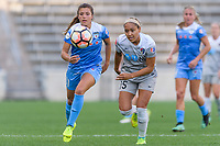 Bridgeview, IL - Sunday September 03, 2017: Sofia Huerta, Jaelene Hinkle during a regular season National Women's Soccer League (NWSL) match between the Chicago Red Stars and the North Carolina Courage at Toyota Park. The Red Stars won 2-1.