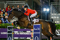 USA-Chloe Reid rides Luis P during the Challenge Cup: 2019 CSIO Barcelona - Longines FEI Nations Cup Jumping Final. Reial Club de Polo de Barcelona. Spain. Saturday 5 October. Copyright Photo: Libby Law Photography