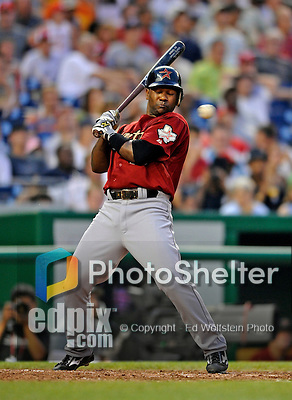12 July 2008: Houston Astros' shortstop Miguel Tejada in action against the Washington Nationals at Nationals Park in Washington, DC. The Astros defeated the Nationals 6-4 in the second game of their 3-game series...Mandatory Photo Credit: Ed Wolfstein Photo