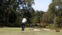 CHAPEL HILL, NC - OCTOBER 11: Ana Pelaez of the University of South Carolina tees off at UNC Finley Golf Course on October 11, 2019 in Chapel Hill, North Carolina.
