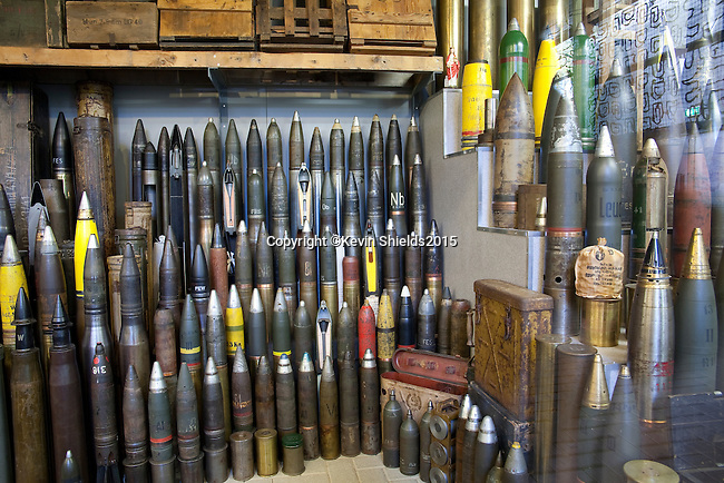Armament display at the Overloon War Museum, Boxmeer, The Netherlands