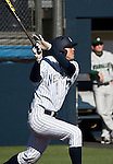 February 24, 2012:   Nevada Wolf Pack's Kewby Meyer bats against the Utah Valley Wolverines during their NCAA baseball game played at Peccole Park on Friday afternoon in Reno, Nevada.