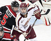 Kelly Wallace (NU - 5), Andie Anastos (BC - 23) - The Boston College Eagles defeated the Northeastern University Huskies 3-0 on Tuesday, February 11, 2014, to win the 2014 Beanpot championship at Kelley Rink in Conte Forum in Chestnut Hill, Massachusetts.