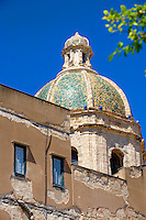 Dome of the San Lorenzo cathedral, Trapani, Sicily