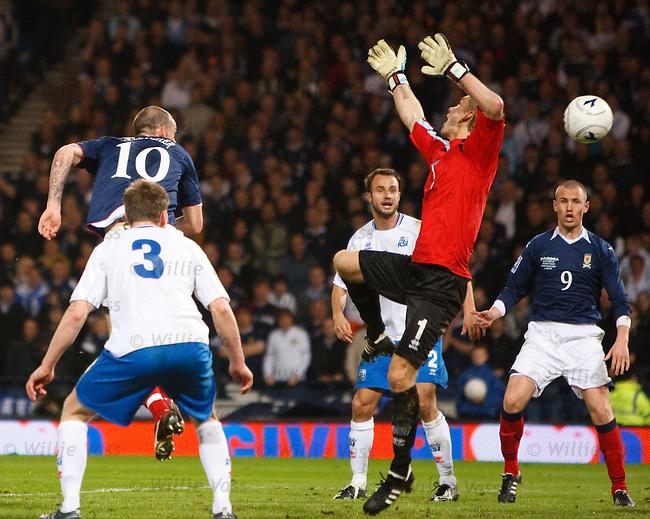 Steven Fletcher scores the winning goal for Scotland