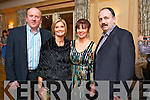 Johnny and Joan McElligott (Dromtacker, Tralee) with Brid and Richard Barrett (Tralee) who attended the Hats and Heels fundraiser event in Ballygarry House Hotel & Spa, Tralee, on Saturday night last.