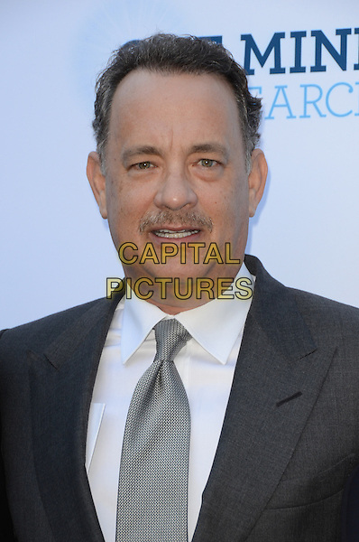 Tom Hanks.Circle Of Hope Dinner And Entertainment Gala held at Beverly Hills Hotel, Beverly Hills, California, USA..September 19th, 2012.headshot portrait suit white shirt grey gray tie moustache mustache facial hair  .CAP/ADM/TW.©Tonya Wise/AdMedia/Capital Pictures.