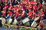 20.12.2017, Margon-Arena, Dresden, GER, DVV-Pokal Damen Halbfinale, Dresdner SC vs. SSC Palmberg Schwerin, im Bild<br /> <br /> <br /> Anfeuerung der Fans des Dresdner SC<br /> <br /> Foto &copy; nordphoto / Dostmann