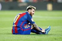 FC Barcelona's Leo Messi injured during La Liga match. September 21,2016. (ALTERPHOTOS/Acero)<br /> Liga Spagna 2016/2017 <br /> Foto Insidefoto
