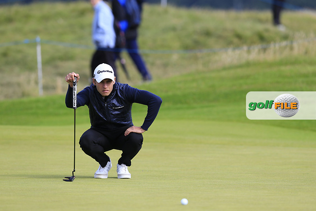 Joakim Lagergren (SWE) on the 15th green during Friday's Round 2 of the 2017 Dubai Duty Free Irish Open held at Portstewart Golf Club, Portstewart, Co Derry, Northern Ireland. 07/07/2017<br /> Picture: Golffile | Eoin Clarke<br /> <br /> <br /> All photo usage must carry mandatory copyright credit (&copy; Golffile | Eoin Clarke)