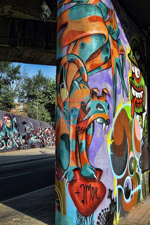 Street Art-Graffittis.<br /> Sabadell Can Feu.