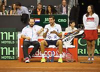 September 14, 2014, Netherlands, Amsterdam, Ziggo Dome, Davis Cup Netherlands-Croatia, Croatian bench<br /> Photo: Tennisimages/Henk Koster