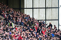 Lincoln City fans celebrate their teams goal, scored by Harry Anderson<br /> <br /> Photographer Chris Vaughan/CameraSport<br /> <br /> Emirates FA Cup First Round - Lincoln City v Northampton Town - Saturday 10th November 2018 - Sincil Bank - Lincoln<br />  <br /> World Copyright &copy; 2018 CameraSport. All rights reserved. 43 Linden Ave. Countesthorpe. Leicester. England. LE8 5PG - Tel: +44 (0) 116 277 4147 - admin@camerasport.com - www.camerasport.com