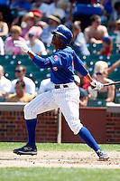 August 9, 2009:  Infielder Bobby Scales of the Iowa Cubs during a game at Wrigley Field in Chicago, IL.  Iowa is the Pacific Coast League Triple-A affiliate of the Chicago Cubs.  Photo By Mike Janes/Four Seam Images