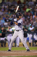 Adrian Rondon (3) of the Bowling Green Hot Rods at bat against the Dayton Dragons at Fifth Third Field on June 8, 2018 in Dayton, Ohio. The Hot Rods defeated the Dragons 11-4.  (Brian Westerholt/Four Seam Images)