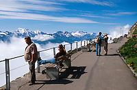 Schweiz, auf dem Gipfel des Niesen im Berner Oberland