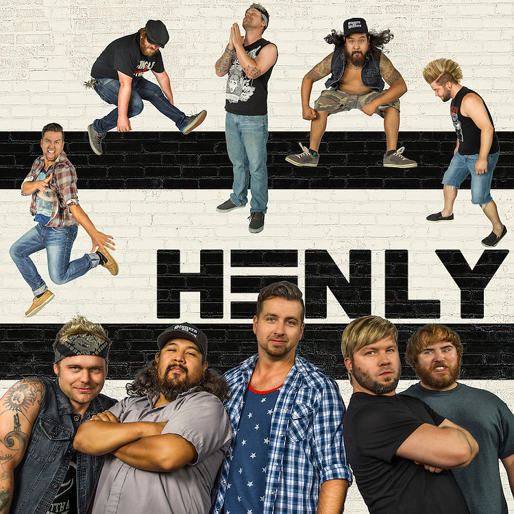 HENLY band promo shots for 2015