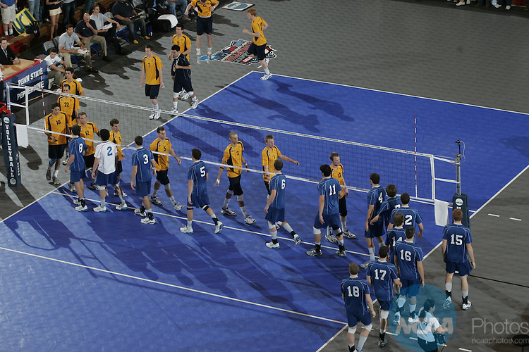 05 MAY 2007:  The University of California Irvine takes on IPFW (Indiana-Purdue Fort Wayne) during the Division I Men's Volleyball Championship held at St. John's Arena on the Ohio State University campus in Columbus, OH.  UC Irvine defeated IPFW 3-1 for the national title.  Jamie Schwaberow/NCAA Photos